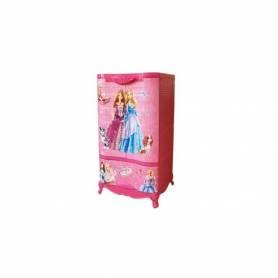 Sofpince Armoire en plastique - Disney - 2 Portes +1 casier - Barbie - 102x60x43cm