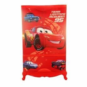 Sofpince Armoire en plastique - Disney - 2 Portes +1 casier - Cars - 102x60x43cm
