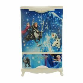 Sofpince Armoire en plastique - Disney - 2 Portes +1 casier - Frozen - 102x60x43cm