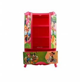 Sofpince Armoire en plastique - Disney - 2 Portes +1 casier - Mickey - 102x60x43cm