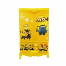 Sofpince Armoire en plastique - Disney - 2 Portes +1 casier - Minion - 102x60x43cm