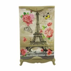 Sofpince Armoire en plastique - Disney - 2 Portes +1 casier - Paris - 102x60x43cm