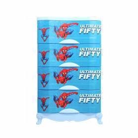 Sofpince Armoire en plastique - Disney- 4 casiers - Spider Man - 100x60x40cm