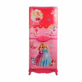 Sofpince Armoire en plastique - Disney - 4 Portes - Barbie - 150x60x40cm