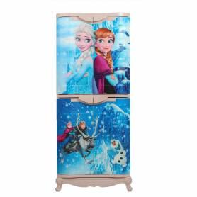 Sofpince Armoire en plastique - Disney - 4 Portes - Frozen 150x60x40cm
