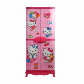 Sofpince Armoire en plastique - Disney - 4 Portes - Hello Kitty - 150x60x40cm