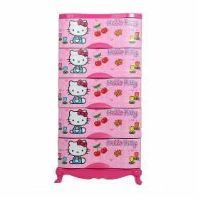 Sofpince Armoire en plastique - Disney - 5 casiers - HELLO KITTY -  150x60x40cm