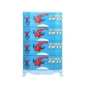 Armoire en plastique - 4 Casiers - Bleu-100*60*40cm