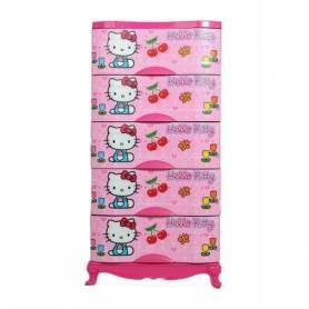 Armoire en plastique - 5 casiers - Rose-120*60*43cm
