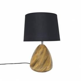 Lampe de Chevet Métallique - Noir + Jaune - 42 x 27 Cm