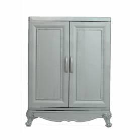 Sofpince Armoire en plastique - CLEOPATRE - 2 Portes - Gris - 80x60x40cm