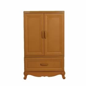 Sofpince Armoire en plastique - CLEOPATRE - 2 Portes +1 casiers - CARAMEL - 102x60x43cm