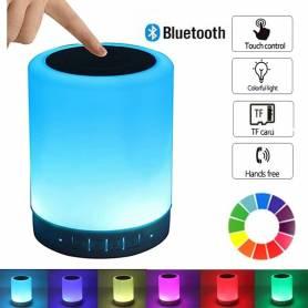 Veilleuse avec Haut parleur bluetooth portable-plusieurs couleurs-tactile