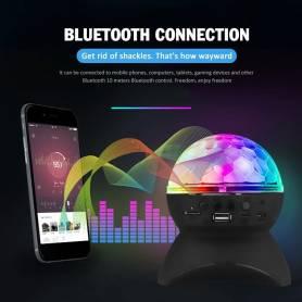 Haut parleur à lumière led bluetooth-sans fil-5v