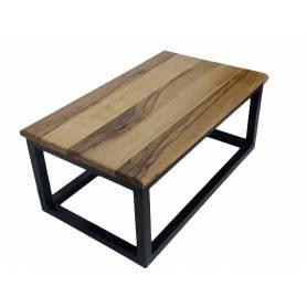 Table basse  en bois du chêne  et alum 100 X 60 X 42 cm - Bois du chêne et alum noir