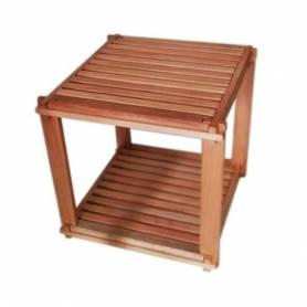 Element 2 étages en bois d'acajou-40*40*40cm