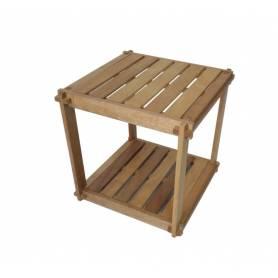 Élément 2 étage en bois chêne massif - 40 X 40 X 40 cm - Bois chêne massif