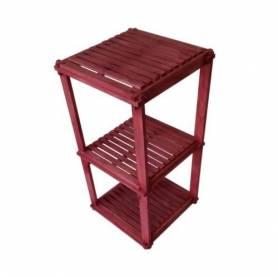 Élément 3 étage en bois rouge - 78 X 40 X 40 cm - Rouge