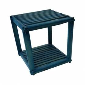 Élément 2 étage en bois rouge - 40 X 40 X 40 cm - Bleu