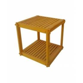 Élément 2 étage en bois rouge - 40 X 40 X 40 cm - Jaune