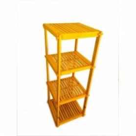 Élément Quadra en bois rouge 110 X 40 X 40 cm - jaune