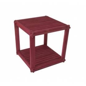 Élément 2 étage - Bois rouge  -  40 * 40 * 40 cm- ROUGE