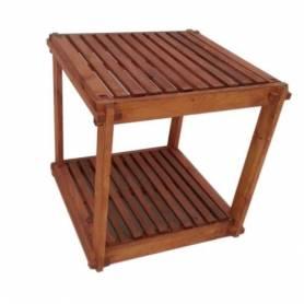 Élément 2 étage en bois rouge - 40 X 40 X 40 cm - Marron