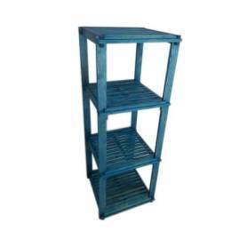 Élément Quadra en bois rouge 110 X 40 X 40 cm - Bleu