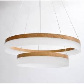 Lumina LED Lustre Salon Plafonnier Créatif Rond 2 Cercle
