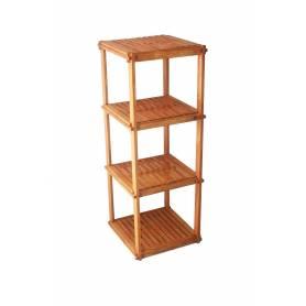 Élément Quadra en bois rouge 110 X 40 X 40 cm- marron