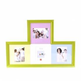 Cadre 4 photos vert-15*10cm