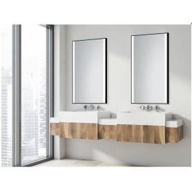 2 Miroirs + cadre -noir-70/50cm