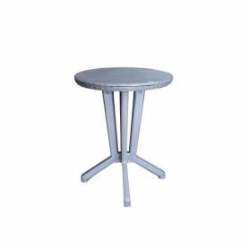 Sofpince Table Salon de Thé Cross - Extérieur&Intérieur - Gris