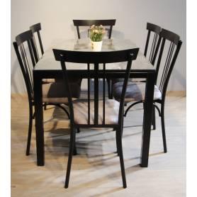 Table à manger RAYA noir-1m20*80cm