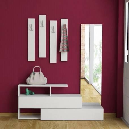 Porte chaussure & porte manteaux - 180*130*30 - Blanc