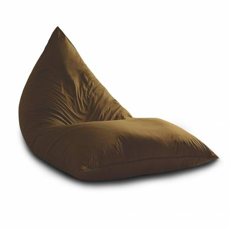 Pouf Sultan Triangle - XXL - 130*80*80 cm - Marron