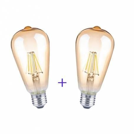 Pack Deux Lampes Antiques Vintages LED ST64 - 4W - E27