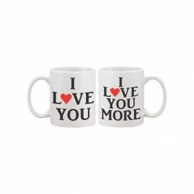 """Mug Couple """" I LOVE YOU"""" """"..."""