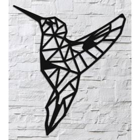 Oiseau – 63*55cm – Noir en bois