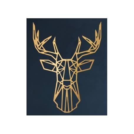 Tête de cerf – 65*50cm – Gold en Bois
