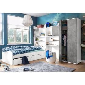 chambre  d'enfant  skander 2, gris et blanc