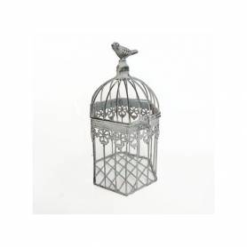 Cage à Oiseau Décorative - 11 X 11 X 26 Cm