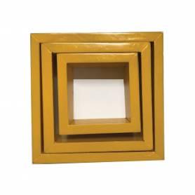serie de 3 étagères jaune