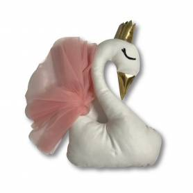 coussin cygne 3D