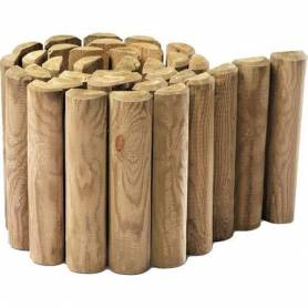 Bordure bois naturel -...