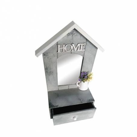 Objet décoratif home - Miroir & Tiroir - 17 X 9 X 33 Cm