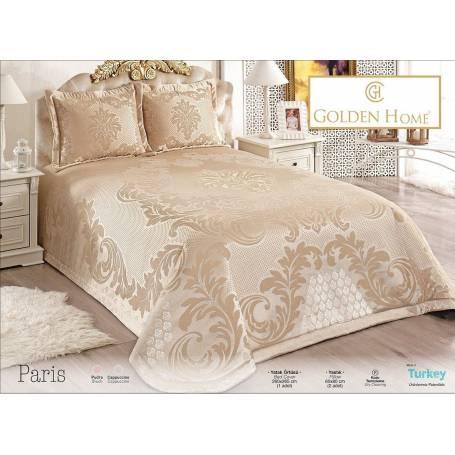 couvre lit Paris Marron