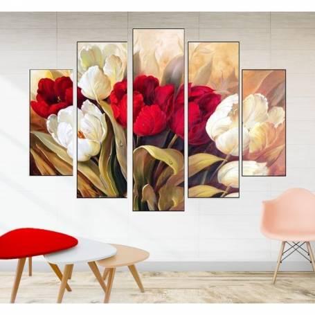 Tableau décoratif 5 pièces - Florale