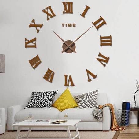 Horloge Murale 120 cm Effet Bois