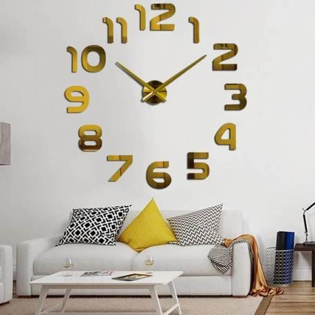 Horloge Murale Doré